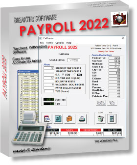 Payroll software withholding tax business accounting program Print checks USA